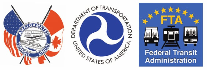 Department of Transportation logos.