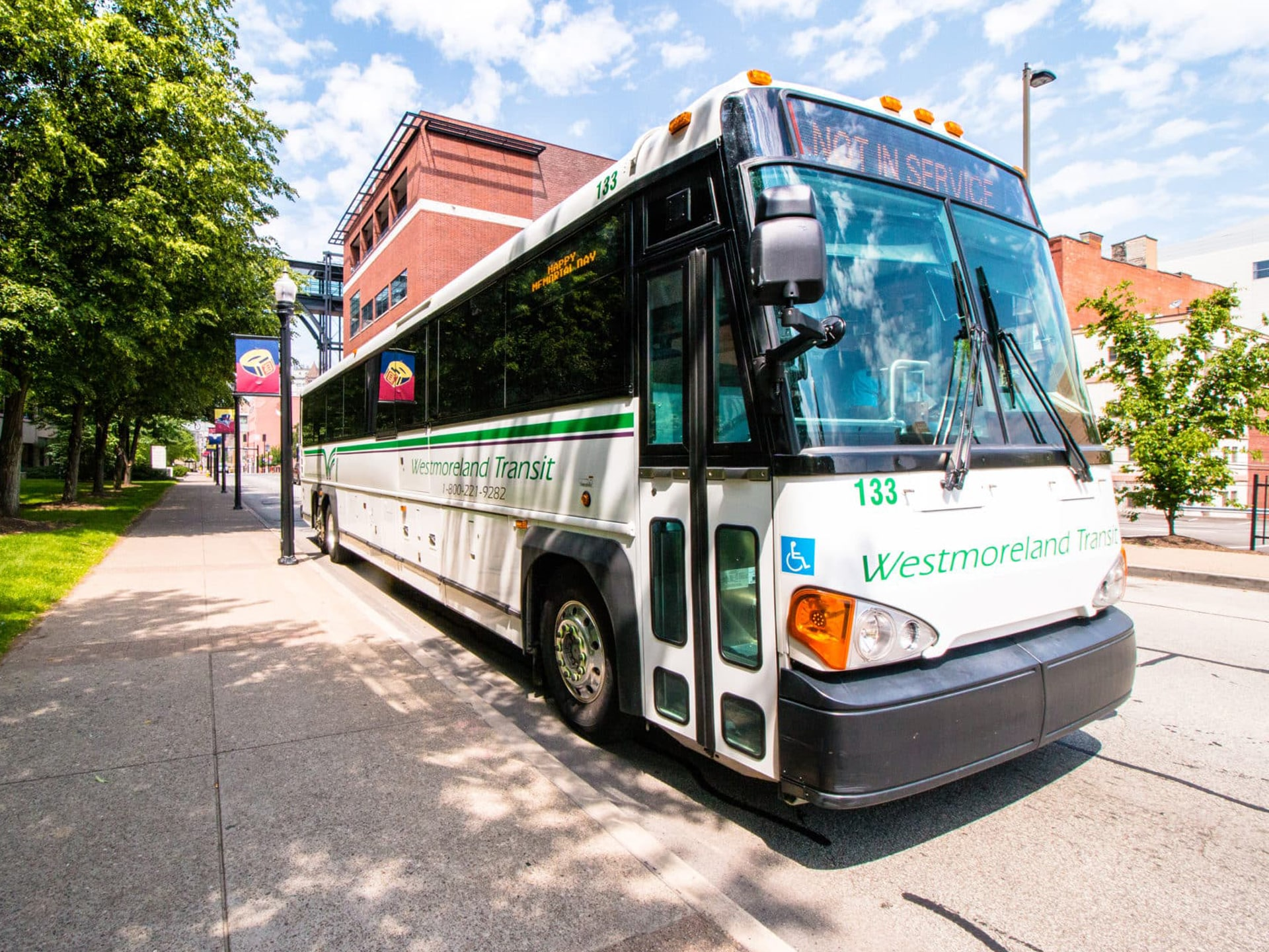 WCTA bus in Pittsburgh
