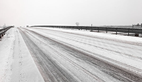 Snowy roads can lead to delays.