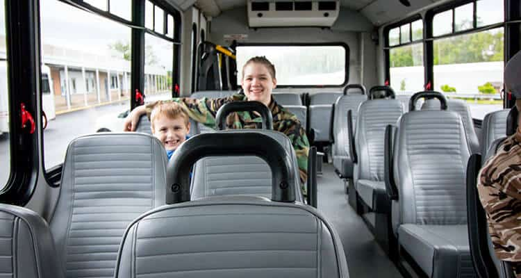 Happy passengers on a Westmoreland Transit bus on route 16S.