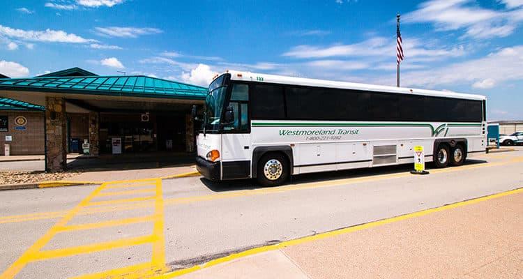 Westmoreland Transit bus in Latrobe
