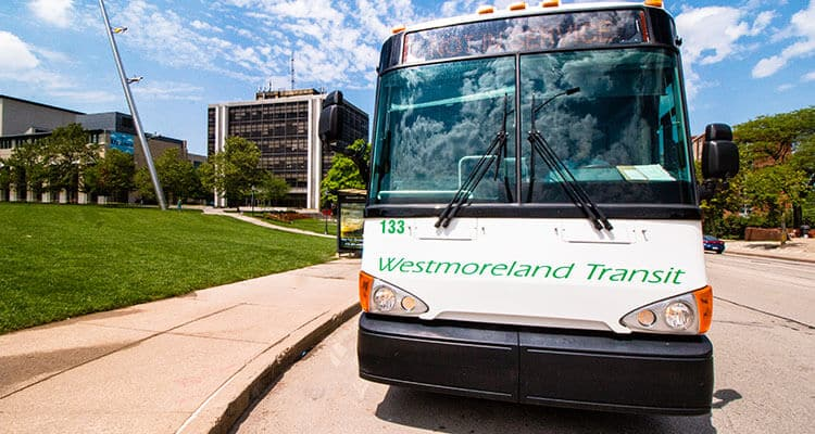 Westmoreland Transit bus in Greensburg