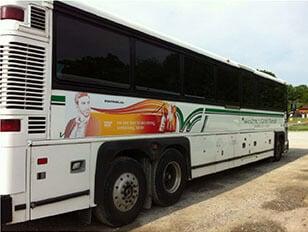 Sample Advertisement on Westmoreland Transit bus